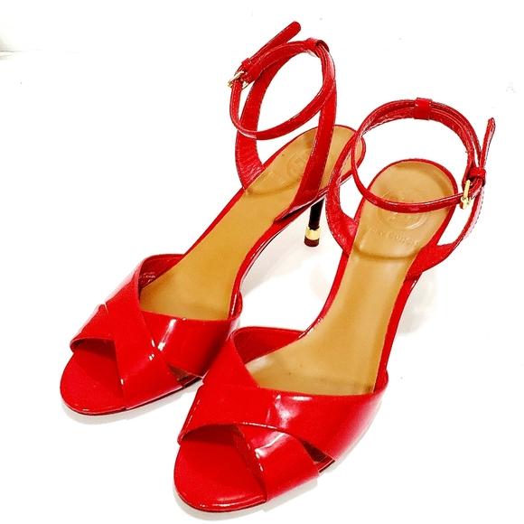 Tory Burch Tania Peep Toe Sandals 7.5